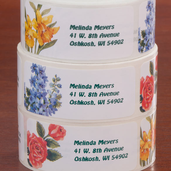 Flower Address Labels - Roll Of 250 - View 2
