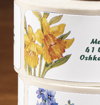 Flower Address Labels - Roll Of 250 - View 3