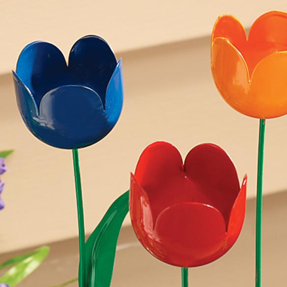 Artificial Tulips - Set Of 5 - View 2