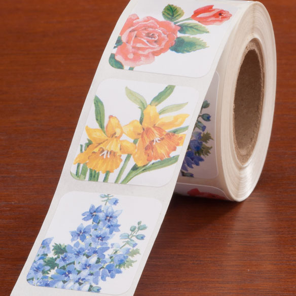 Floral Medley Seals - Roll Of 250 - View 2