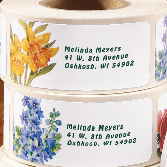 Floral Address Labels & Seals - 250 - View 2