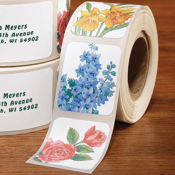 Floral Address Labels & Seals - 250 - View 4