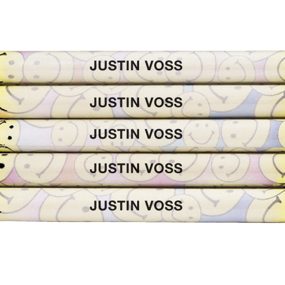 Personalized Smiley Face Pencils - View 2
