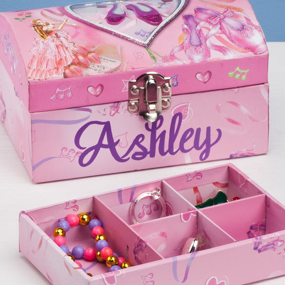 Personalized Ballet Jewelry Box - View 2