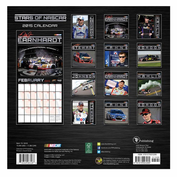 NASCAR Calendar 2014 - View 2