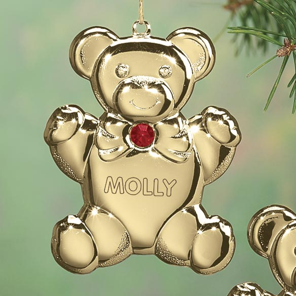 Personalized Birthstone Teddy Ornament - View 2