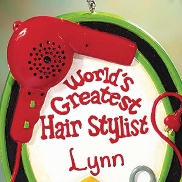 Personalized Hair Stylist Ornament - View 2