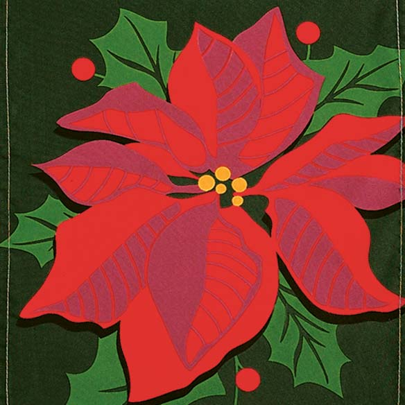 Poinsettia Garden Flag - View 2