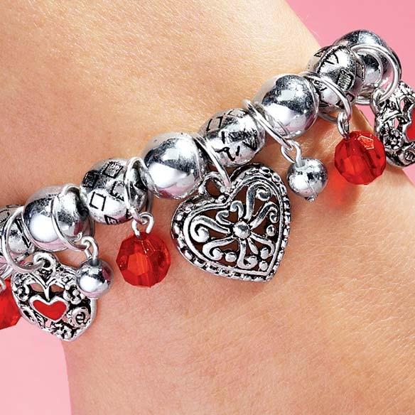 Valentine's Stretch Bracelet - View 2