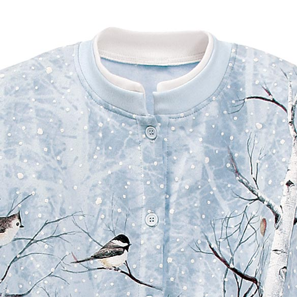 Winter Birds In Birch Cardigan - View 2