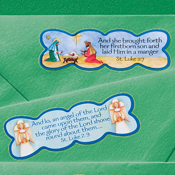 Religious Christmas Stickers - Set of 50 - View 2