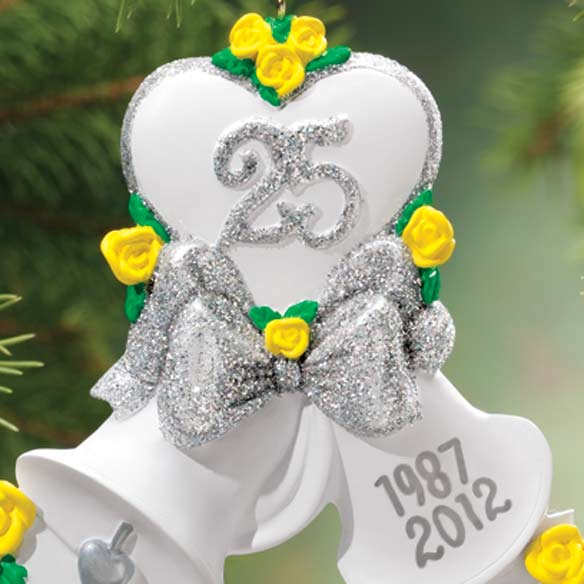 Personalized 25th Anniversary Bell Ornament