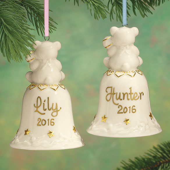 Personalized Baby's First Christmas Bell Ornament - View 2