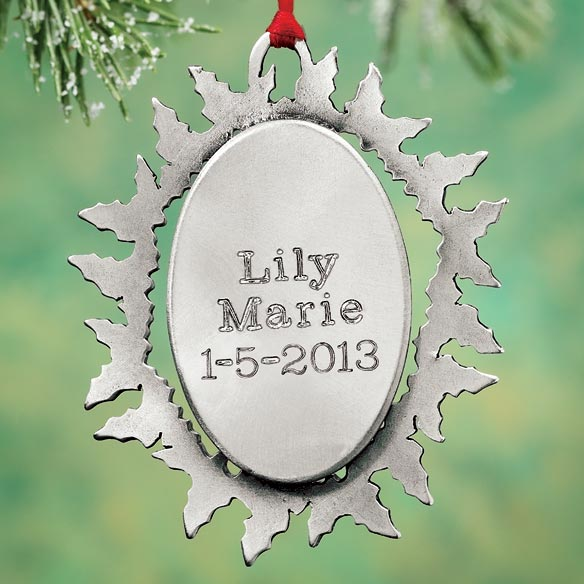 Personalized Baby's First Christmas Pewter Ornament - View 2