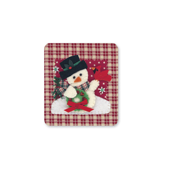 Calico Snowman Christmas Card Set of 20 - View 5