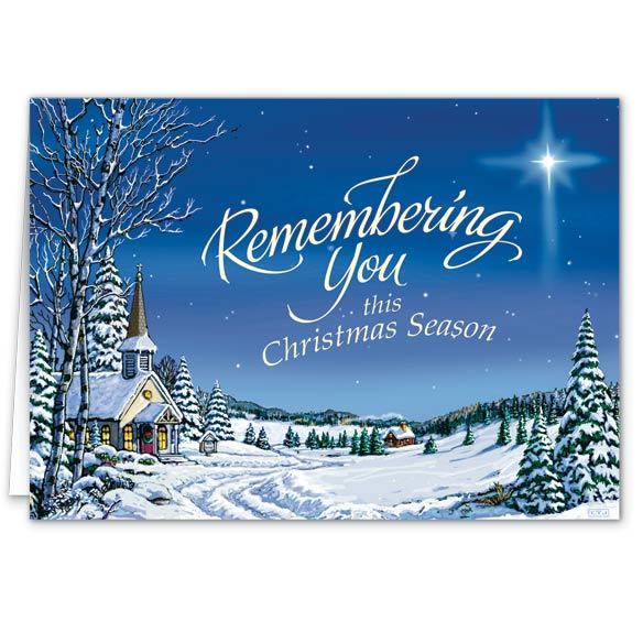 Remembering You Religious Christmas Card Set of 20
