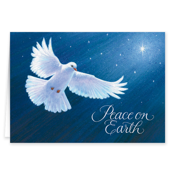 Dove of Peace Card Pers Set of 20 - View 2