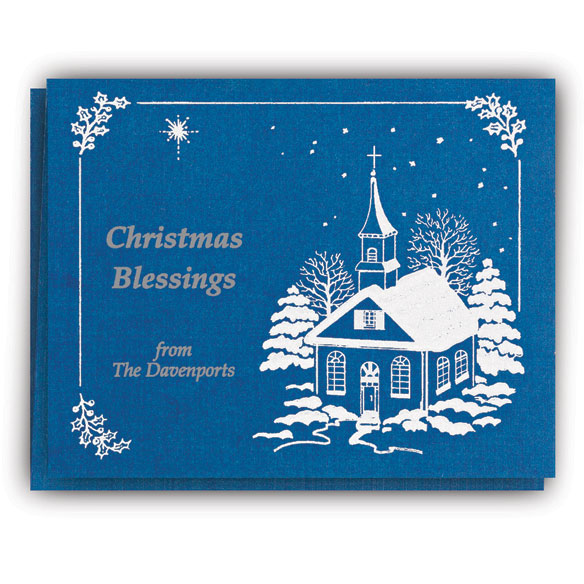 List Of Blessings Personalized Christmas Cards - Set Of 20 - View 2