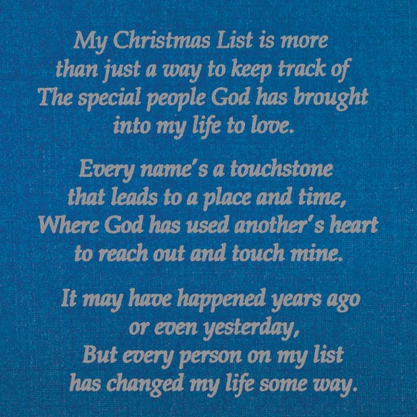 List Of Blessings Personalized Christmas Cards - Set Of 20 - View 3