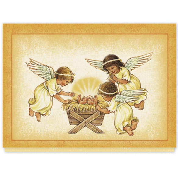 Angels and Baby Christmas Card Set/20 - View 2