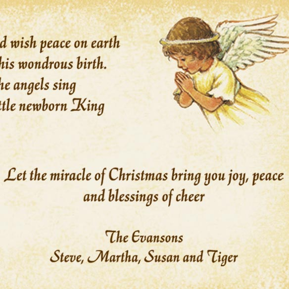 Angels and Baby Christmas Card Set/20 - View 5