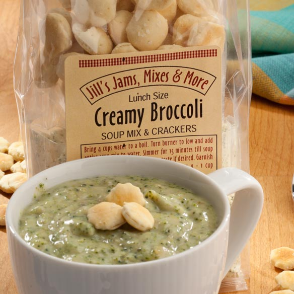 Luncheon Creamy Broccoli Soup Mix & Crackers - View 2