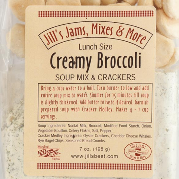 Luncheon Creamy Broccoli Soup Mix & Crackers - View 3