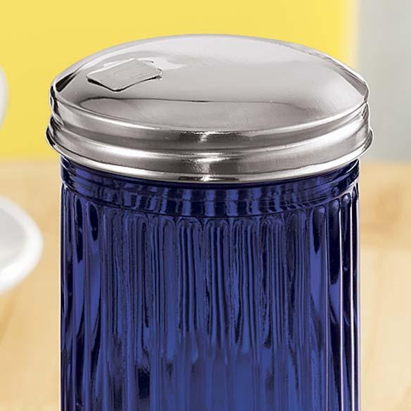 Blue Depression Glass Sugar Dispenser - View 2