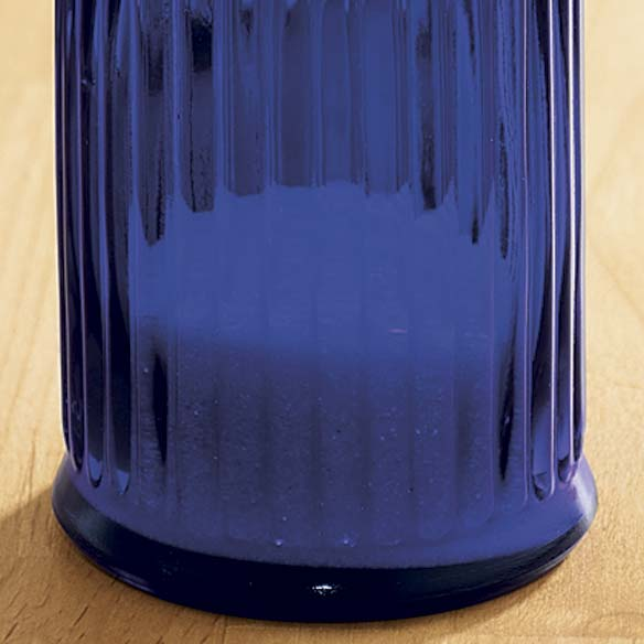 Blue Depression Glass Sugar Dispenser - View 3
