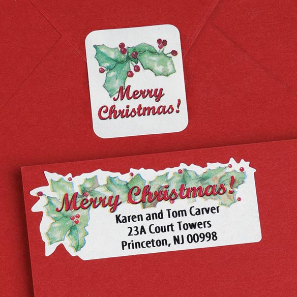 Merry Christmas Labels And Seals - Sets Of 150 - View 2