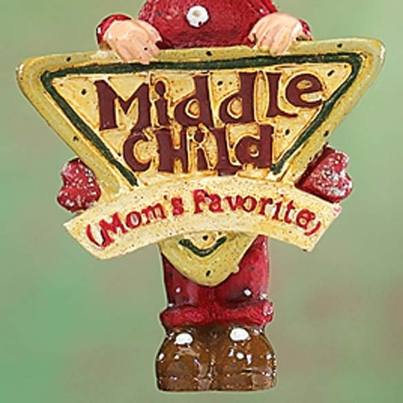 Mom's Favorite Middle Child Ornament - View 2