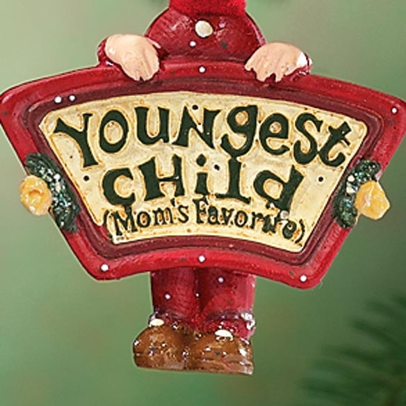 Moms Favorite Youngest Child Ornament - View 2