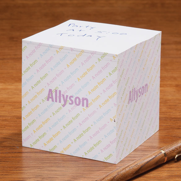 Personalized Self-Stick Note Cube - View 2