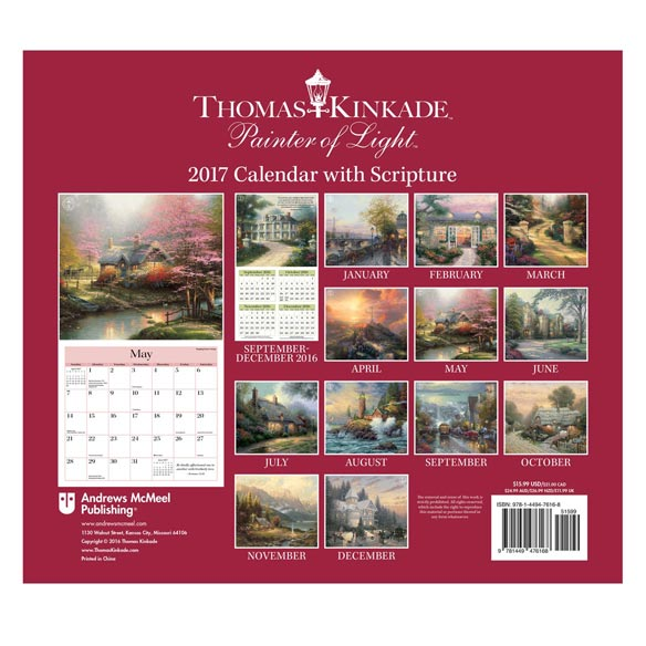 Thomas Kinkade Scripture Wall Calendar - View 2