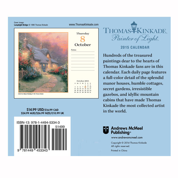 Thomas Kinkade 365 Day Calendar - View 2