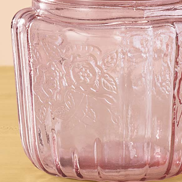 Pink Glass Biscuit Jar - View 3