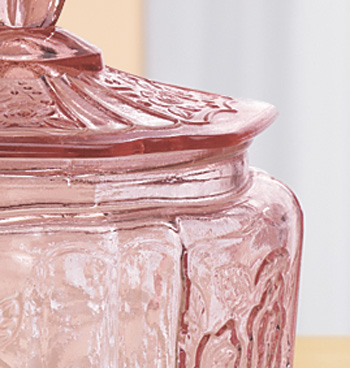 Pink Glass Biscuit Jar - View 5