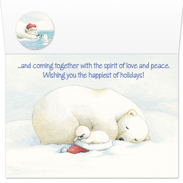Arctic Friends Christmas Card Set of 20 - View 3