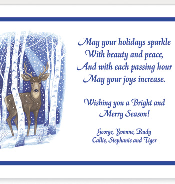 Deer in Snowy Woods Christmas Card Set/20