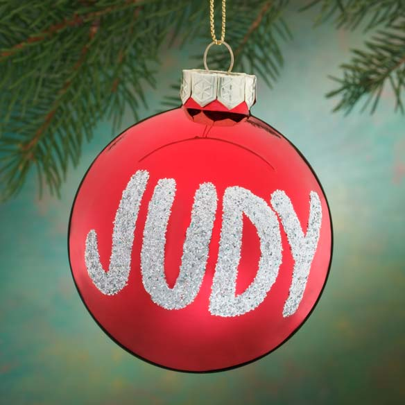 Personalized Name Or Date Glitter Ornament - View 2