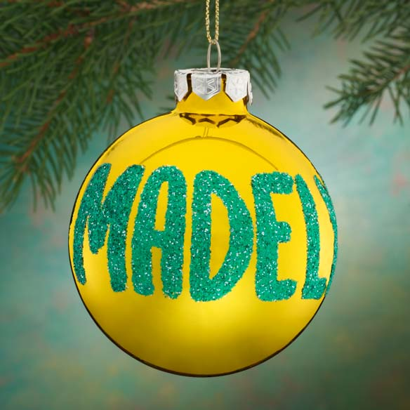Personalized Name Or Date Glitter Ornament - View 3