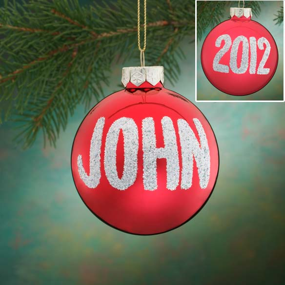 Personalized Name And Date Glitter Ornament - View 4