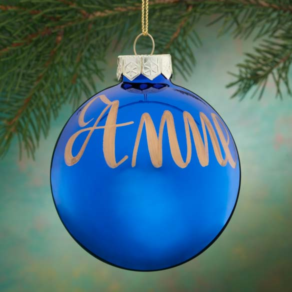 Personalized Name Or Date Painted Ornament - View 4