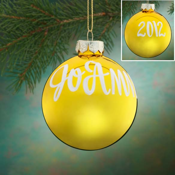 Personalized Name And Date Painted Ornament - View 2