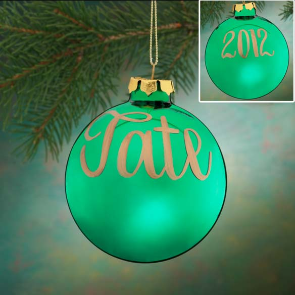 Personalized Name And Date Painted Ornament - View 3