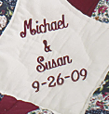 Personalized Wedding Ring Throw