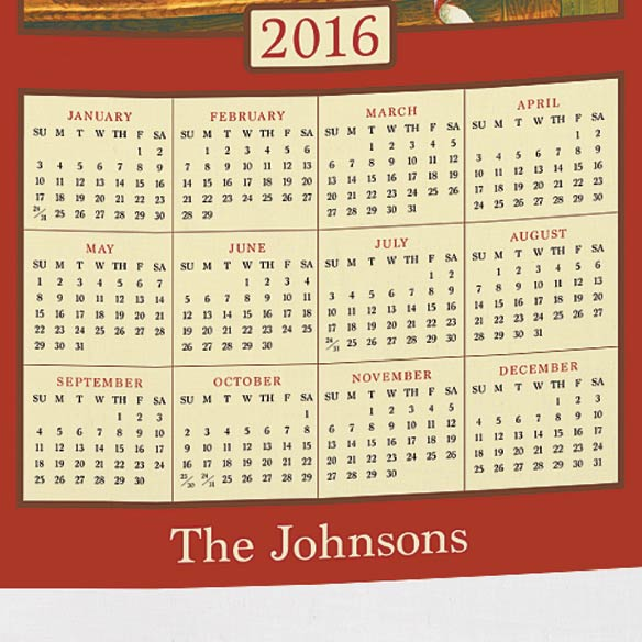 Personalized Recipe For Happiness Calendar Towel Miles