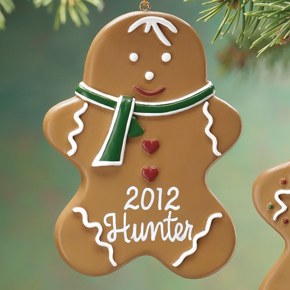 Personalized Gingerbread Ornament