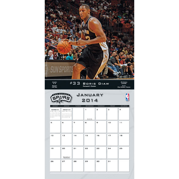 NBA Wall Calendars - View 1