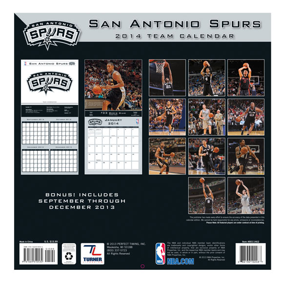 NBA Wall Calendars - View 2
